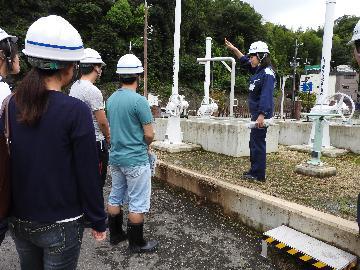 浄水施設の見学