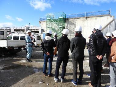 鴨川東岸線第二工区(九条跨線橋周辺)工事見学