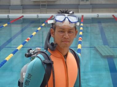 水上訓練の様子