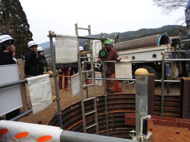 第1高区配水地改良工事の見学