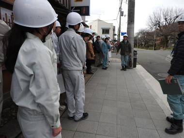 銀閣寺道の無電柱化工事の見学