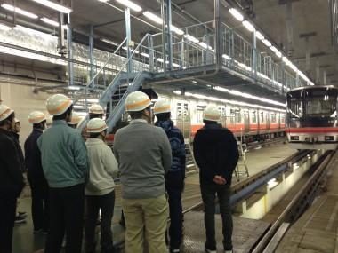 地下鉄車両工場の見学