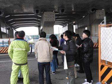 鴨川東岸線第2工区(九条跨線橋周辺)工事現場見学