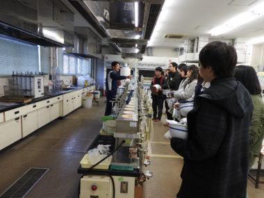 水質試験室の見学