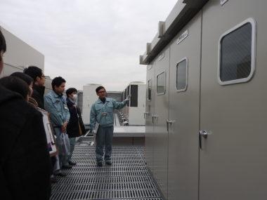 電気設備の見学